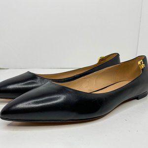 Tory Burch Elizabeth Black Pointy Toe Flat 8.5